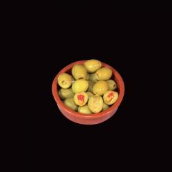 trio de cazuelas de olivas